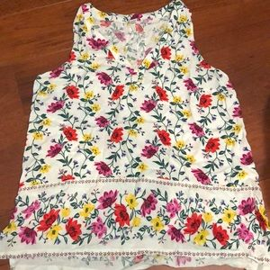 Floral Sleeveless Old Navy Top